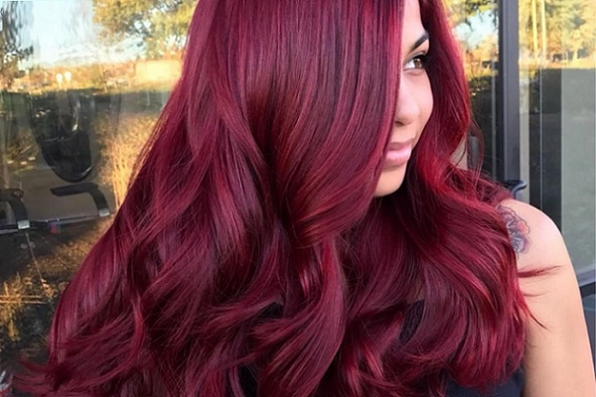 01 Red Lace Front Wig
