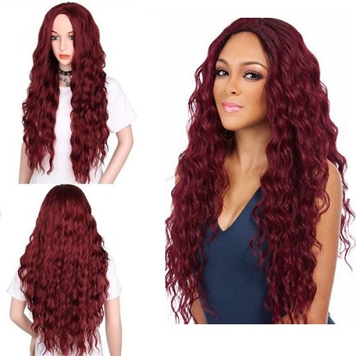 02 Red Lace Front Wig