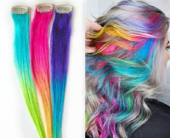 04 Colored Hair Extensions